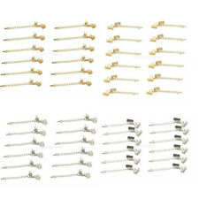 12pcs Silver/Gold Extender Chain with Cord Crimps and Lobster Clasp Finding DIY