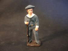 Old Vtg TC Lead British Navy Solider Toy Train Garden Figure Military