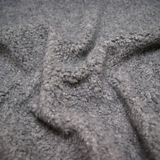 Faux Fur SHERPA FLEECE Sheepskin Fabric Material - Cashmere GREY 150cm Wide