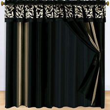 """Chandler Curtains 2 x Panels 60x84""""ea. with Valance"""