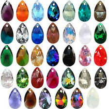SWAROVSKI ELEMENTS 6106 Pear Shape Teardrop Crystal Pendants More Colors & Sizes