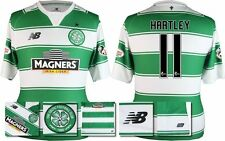 *15 / 16 - NEW BALANCE ; CELTIC HOME SHIRT SS + PATCHES / HARTLEY 11 = SIZE*