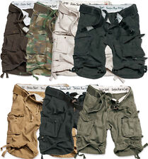 Surplus Division Shorts Military Army Vintage Cargo Combat + Belt Knee Length