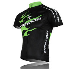 MERIDA Men's Cycling Jerseys Mountain Bike Bicycle Jersey Shirts Top Green Fire