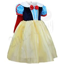 Kids Girl Princess Snow White Fancy Party Dress Halloween Xmas Cosplay Costume