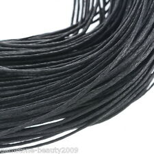 Wholesale HX Wholesale Black Waxed Cotton Necklace Cord 1mm