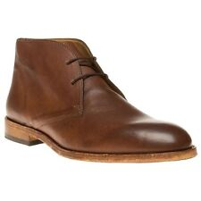 New Mens Sole Crafted Tan Bisley Leather Boots Chukka Lace Up