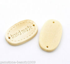 "Wholesale HX ""hand made"" Oval Wood Jewelry Connectors 19x12mm(3/4""x1/2"")"