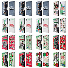 ONE DIRECTION 1D PHOTO DOODLE CHRISTMAS LEATHER BOOK CASE FOR SONY PHONES 1