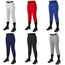 Alleson Athletic 605PBWY Girl's Fast pitch Softball Pants with Belt Loops Youth
