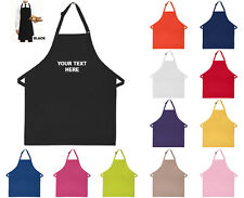 PERSONALISED BIB APRON GIFT FOR HIM HER CUSTOM YOUR TEXT - 12 COLOURS AVAILABLE