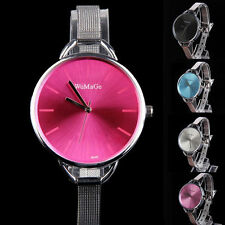 Charming Women's Lady Quartz Stainless Steel Candy Color Wrist Watch Bracelet