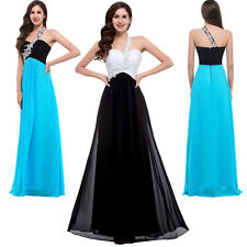 1 Shoulder Formal Long Evening Ball Gown Party Prom Dress UK Size  8 10 12 14 16