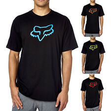 Fox Racing Motocross Dirt Bike Legacy Black Fox Head Mens Shirt Cotton Tee