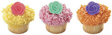 Rose Flower Cupcake Topper Picks - Set of 12