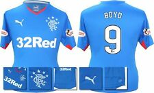 *15 / 16 - PUMA ; RANGERS HOME SHIRT SS + PATCHES / BOYD 9 = SIZE*