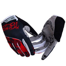 Red Full Finger Cycling Gloves MTB Bike Bicycle 3D Gel Pad Gloves Shockproof