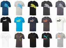 Puma T-Shirt Mens Athletic Short Sleeve Crewneck Top Graphic Performance Tee