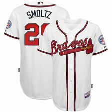 John Smoltz MAJESTIC Atlanta Braves Authentic On-field Home Cool Base Jersey