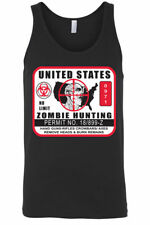 Men's Tank Top United States No Limit Zombie Hunting Permit Walkers Sleeveless