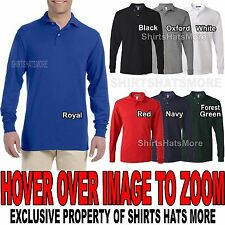 Jerzees Poly/Cotton Mens LONG SLEEVE Polo with SPOTSHIELD S, M, L, XL, 2XL NEW!