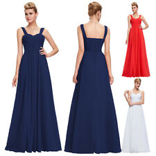 Grace Karin UK Long Prom Ball Chiffon Party Gown Bridesmaid Formal Evening Dress
