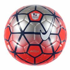 Nike EPL Football. Nike Pitch Premier League Size 5 Football Silver Red -GENUINE
