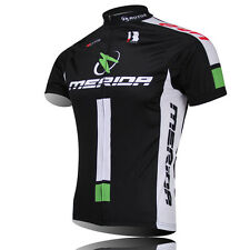 MERIDA Team Men's Cycling Jerseys Bicycle Clothing Biking Short Sleeve Shirts