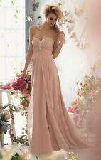 New Beaded Long Evening Dresses Formal Prom Party Ball Gown Bridesmaid Dresses