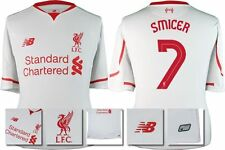 *15 / 16 - LIVERPOOL AWAY EURO & DOMESTIC SHIRT SS / SMICER 7 = KIDS SIZE*
