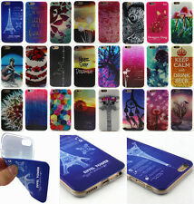 For Apple iPhone New Colorful Painted Soft TPU Silicone Rubber Back Case Cover