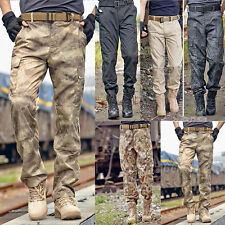 Mens Tactical Casual Military Army Cargo Camo Combat Work Pants Pocket Trousers