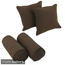 Blazing Needles Solid Twill Throw Pillow Set (Set of 4)