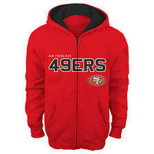 San Francisco 49ers Youth Fan Gear Stated Full Zip Team Color Hoodie - Scarlet