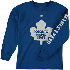 Youth Old Time Hockey Royal Toronto Maple Leafs Two Hit Long Sleeve T-Shirt