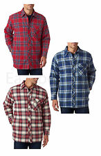 Peaches Pick - Backpacker Men's Flannel Shirt Jac with Quilt Lining, Sizes S-3XL