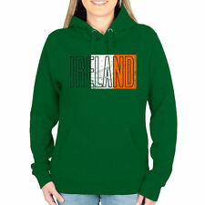 Ireland Women's Flag Pullover Hoodie - Green - Country Flags