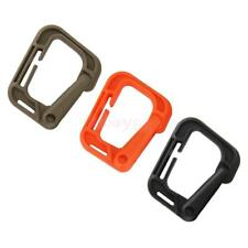 10Pcs Molle EDC Outdoor Camping Webbing Buckle Snap Clip Hook Carabiner Holder
