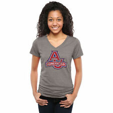 American Eagles Womens Classic Primary Tri-Blend V-Neck T-Shirt - Ash - College