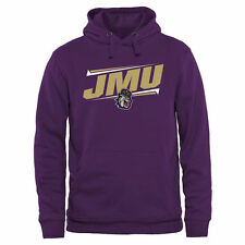 James Madison Dukes Double Bar Pullover Hoodie - Purple - NCAA