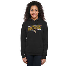 Wake Forest Demon Deacons Women's Double Bar Pullover Hoodie - Black - College