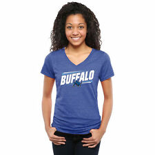 Buffalo Bulls Women's Double Bar Tri-Blend V-Neck T-Shirt - Royal - College
