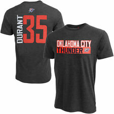 Mens Kevin Durant Gray Oklahoma City Thunder Vertical Name & Number T-Shirt