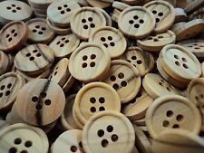 BABY REAL NATURAL OLIVE WOOD ITALIAN 4 HOLE BUTTONS - 11mm, 15mm, 18mm
