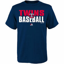 Minnesota Twins Majestic Youth Board Wall T-Shirt - Navy - MLB
