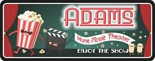 Enjoy The Show Personalized Sign For Home Theater With Popcorn, Clapboard C1338