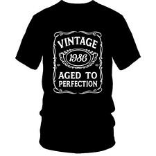 30th Birthday T-Shirt VINTAGE AGED TO PERFECTION 1986 BDay 30 Gift Idea Present
