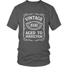 80th Birthday VINTAGE AGED TO PERFECTION 1936 T-shirt Bday 80 Gift Idea Present