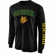 Oregon Ducks Arch & Logo Long Sleeve T-Shirt - Black - NCAA