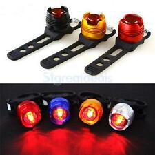 LED Waterproof Bicycle Cycling Bike Front Rear Tail Helmet Flash Light Safe Lamp